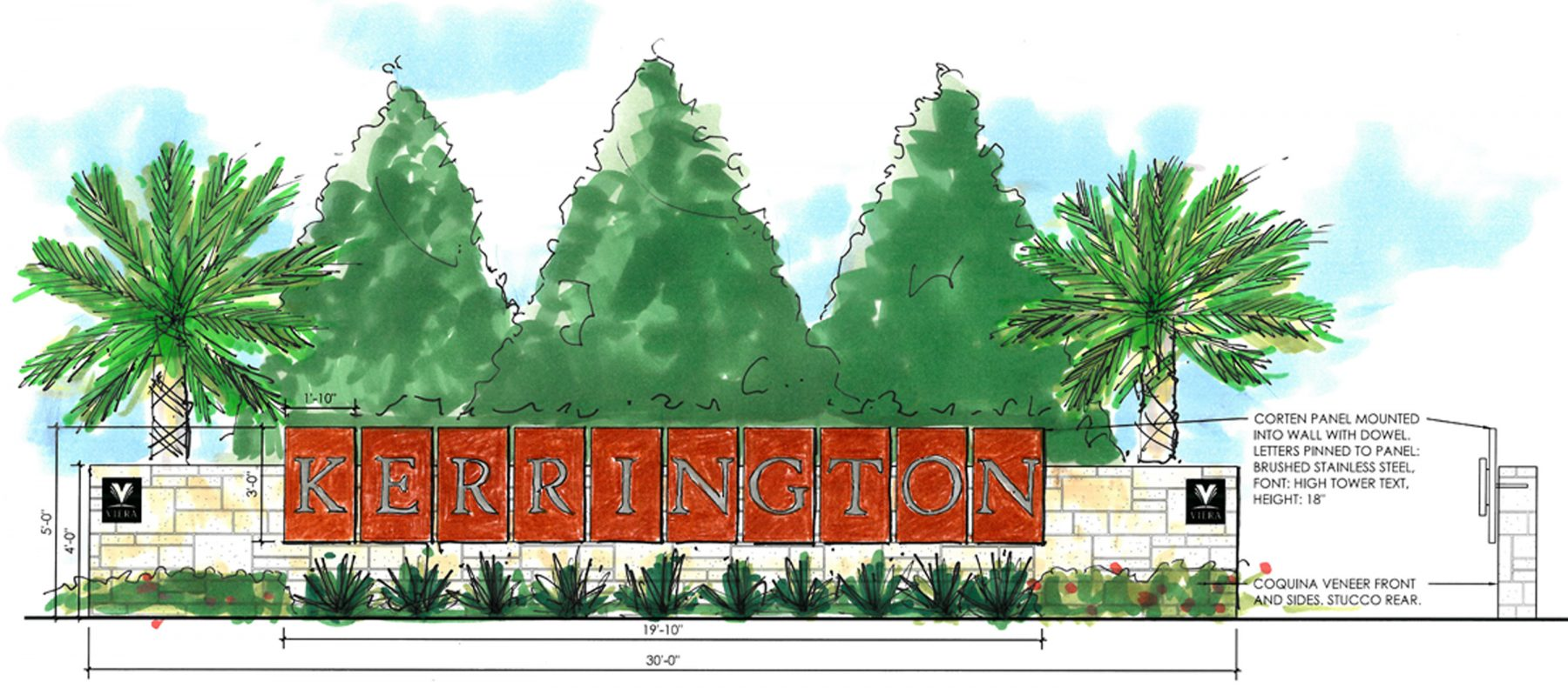 Kerrington color sign elevation web